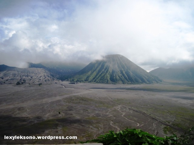 the beauty of mount Bromo viewed from Bromo Permai Hotel