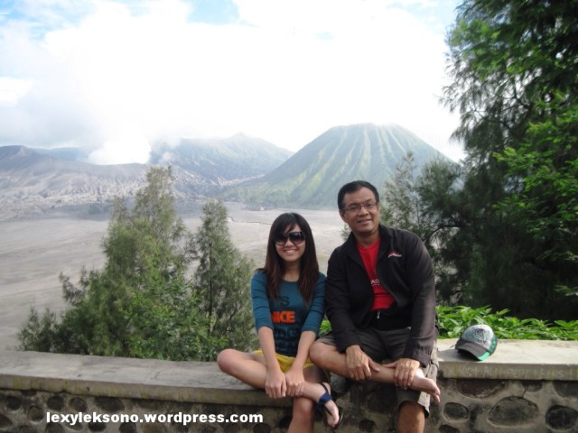 my daughter & I with Bromo in the background