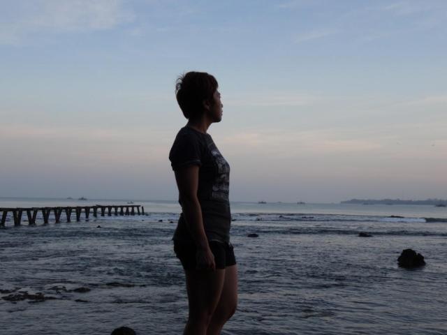 my wife Tina enjoying the view