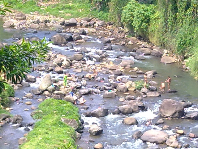Children in the creek