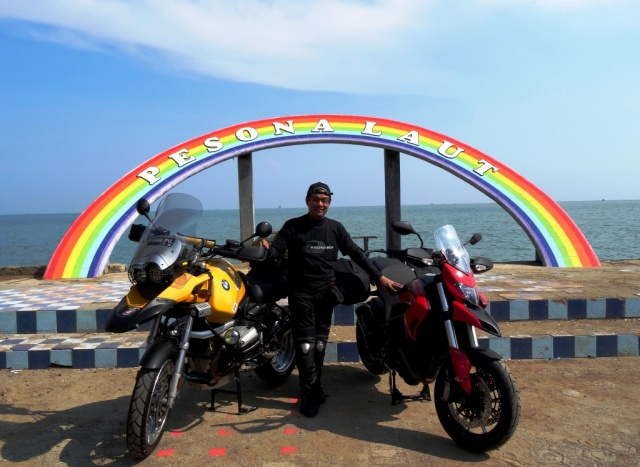 It is me with two great bikes