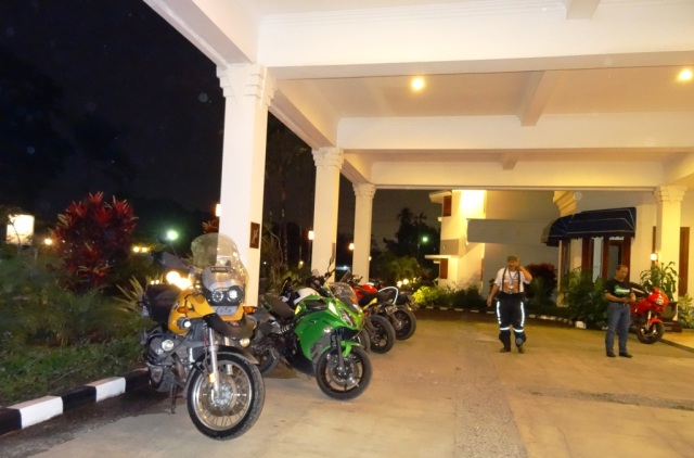 Our bikes parked nicely outside the Lobby