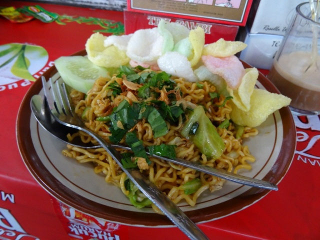 delicious fried noodle