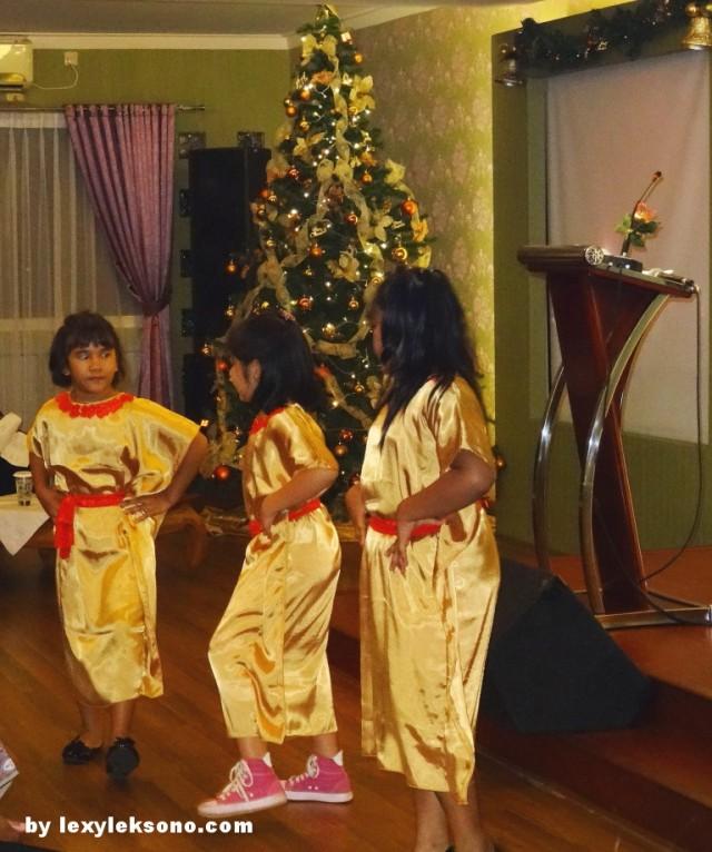 the Sunday school children dancing