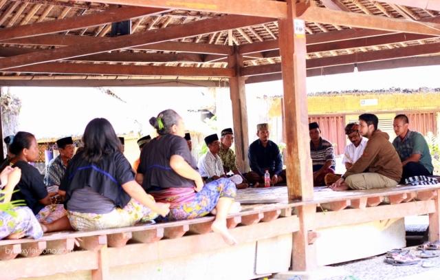 Sasak people having a meeting