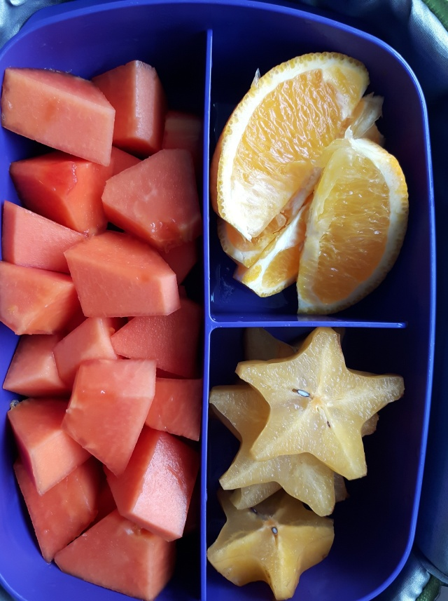 Papaya, orange, star fruit