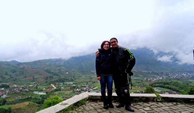 At Dieng plateau the valley down below and the mountain far away give you great view