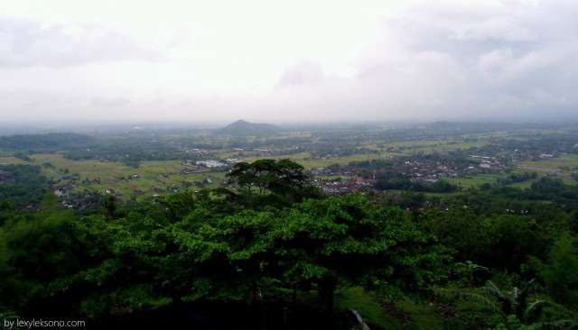 The view from Bukit Indah restaurant Bantul