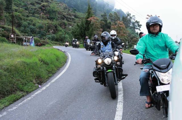 Beautiful Dieng Plateau area. Great scenery around make us enjoy our ride.