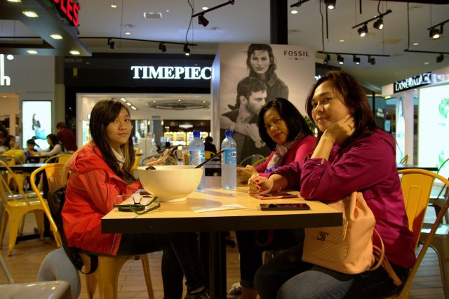 breakfast at Kuala Lumpur International Airport